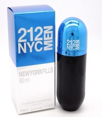CH 212 NYC NEWYORK PILLS BLUE FOR MEN EDT 80ML