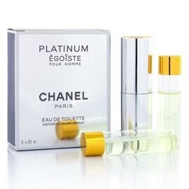 CHANEL EGOISTE PLATINUM FOR MEN EDT 3x20ml
