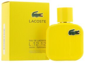 LACOSTE L.12.12 JAUNE OPTIMISTIC FOR MEN EDT 100ML